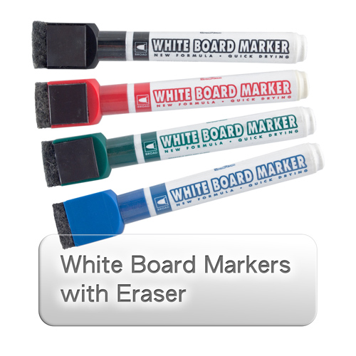 White Board Markers with Eraser