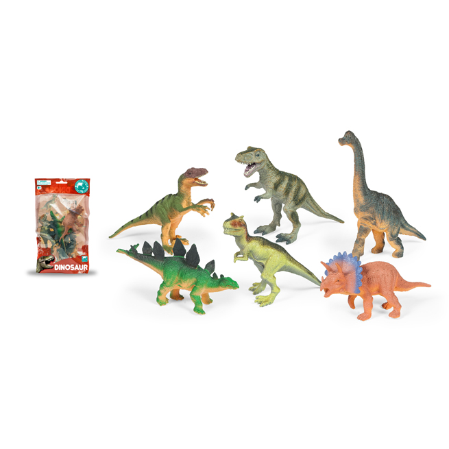 6 PCS DINOSAUR IN LAMINATION BAG