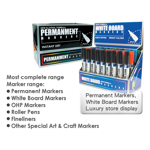 Premanent Marker & White Board Marker Packaging