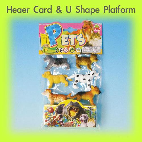 PVC Bag with 5.5'' ard Header Card & V shape Platform