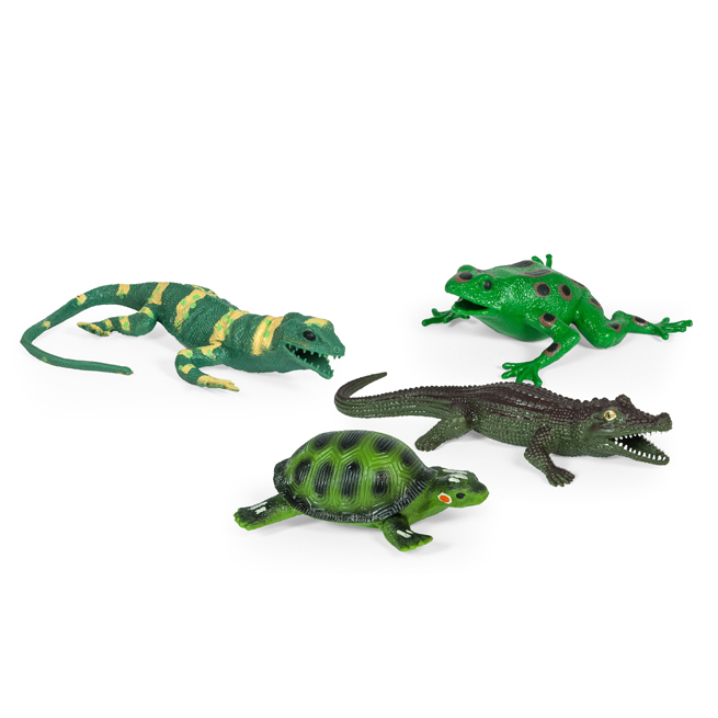 4 ASSTD. STRETCHY REPTILE (ALLIGATOR,LIZARD,TURTLE,FROG)