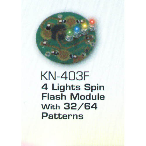 4 Lights Spin Flash Module with 32-64 Patterns