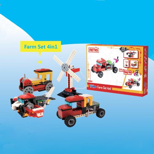 Farm Set 4 in 1