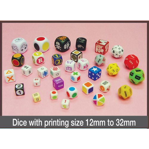 Dice with Printing Size 12mm to 32mm