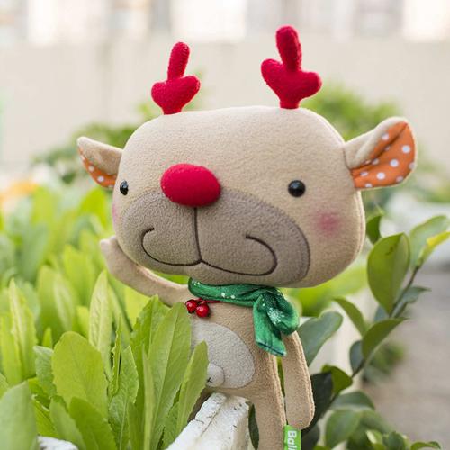 doll (L), deer