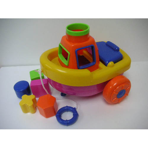 Pull Along Puzzle Boat