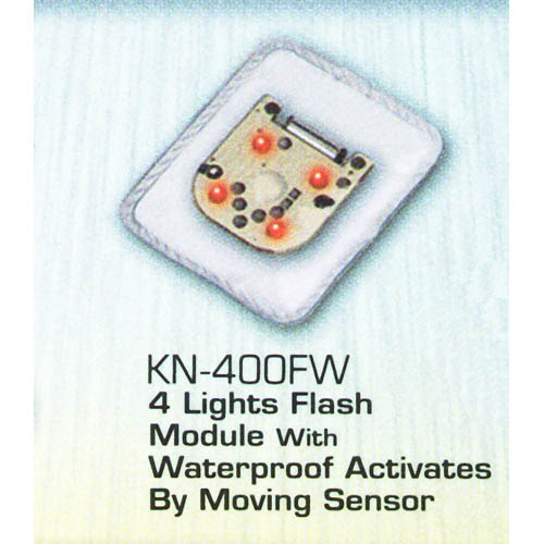 4 Lights Flash Module with Waterproof Activates by Moving Sensor