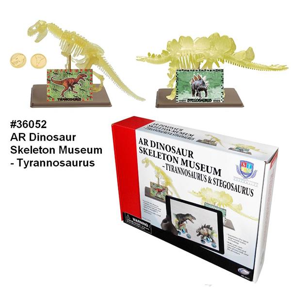 AR Dinosaur Skeleton Museum - Tyrannosaurus & Stegosaurus