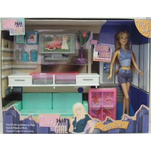 Living Room Play Set (With Doll)