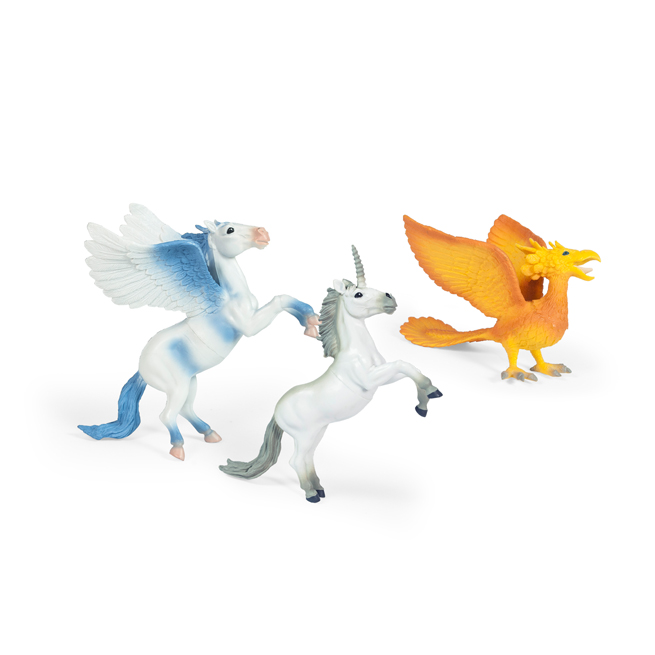 3 ASSTD. UNICORN, PEGASUS & PHONEIX