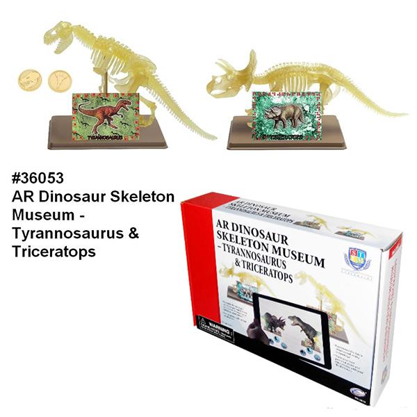AR Dinosaur Skeleton Museum - Tyrannosaurus & Triceratops