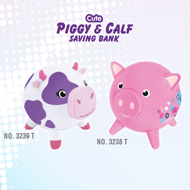 Cute PIGGY & CALE Saving Bank