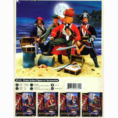 Pirate Action Figure w/ Accessories