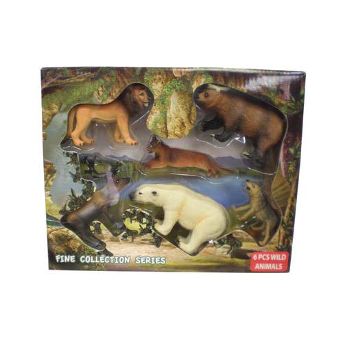 6pcs Wild Animals