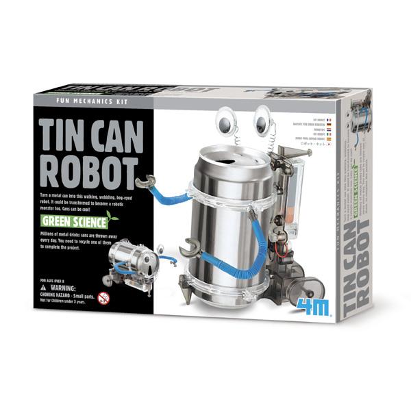 Fun Mechanics Kit ~ Tin Can Robot