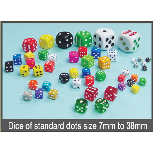 Dice of Standard Dots Size 7mm to 38mm
