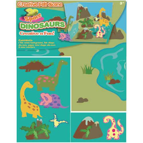 Creative Felt Scence Dinosaurs