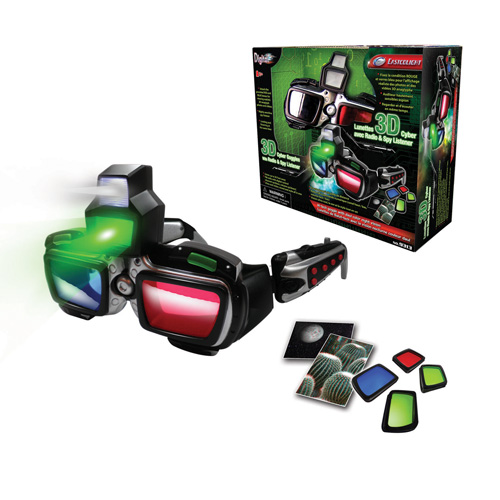 3D Cyber Goggles with Radio & Spy Listener