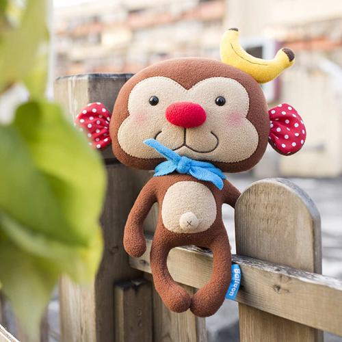 doll (L), monkey