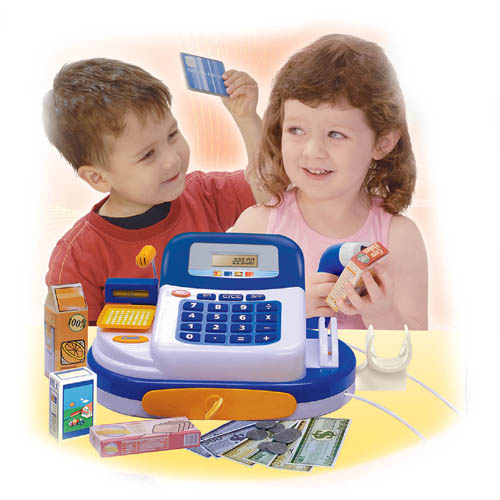 Toy Cash Register with Human Voice
