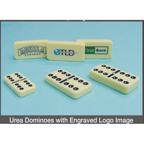 Urea Dominoes with Engraved Logo Image
