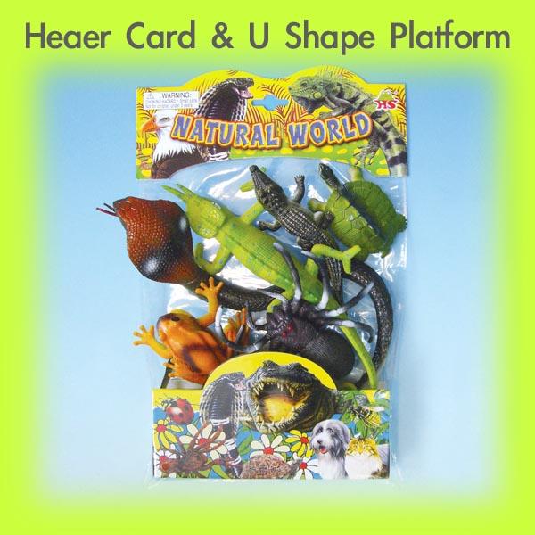 PVC Bag with 8'' Header Card & V shape Platform