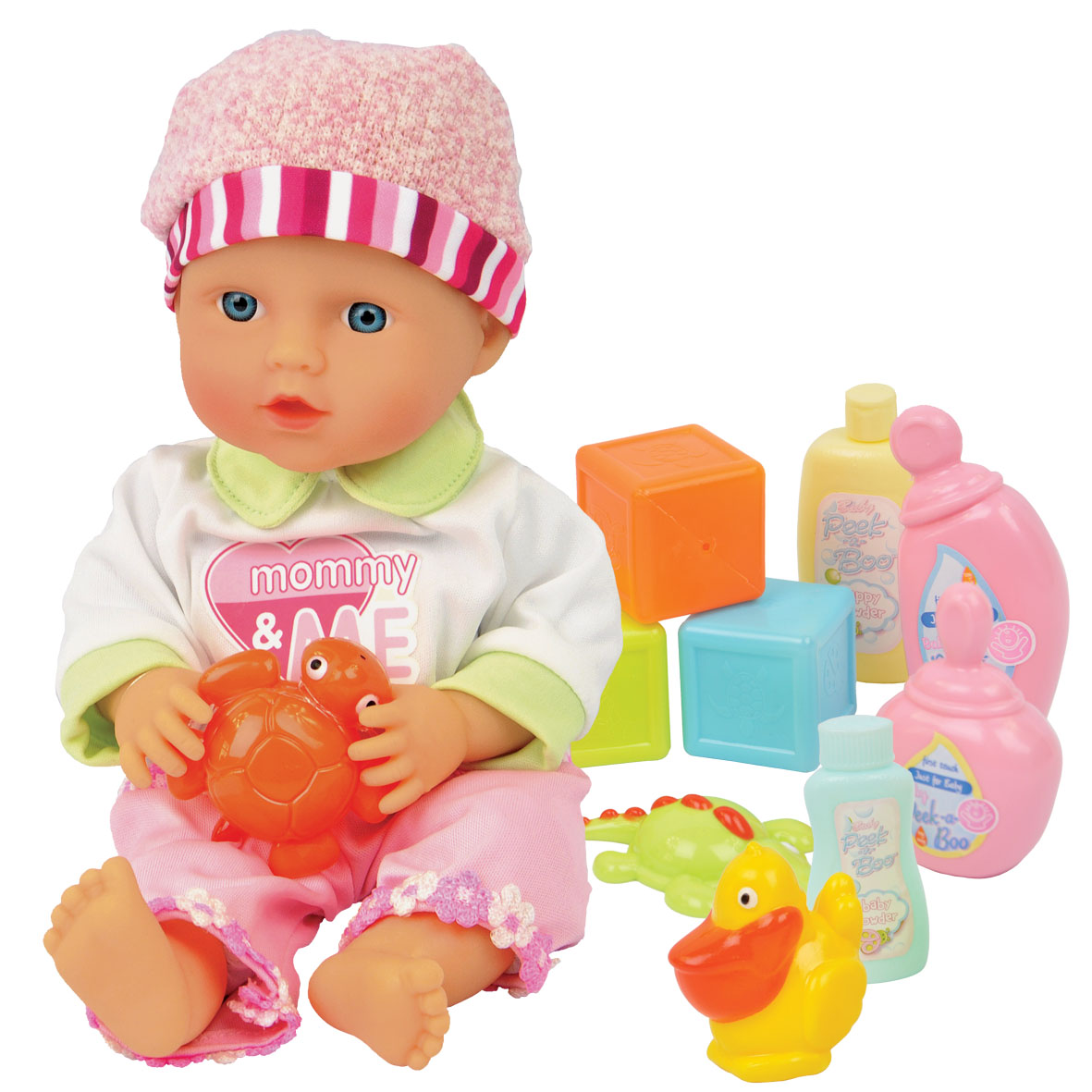 Peek a Boo Lil Cuddles New Baby Care Set