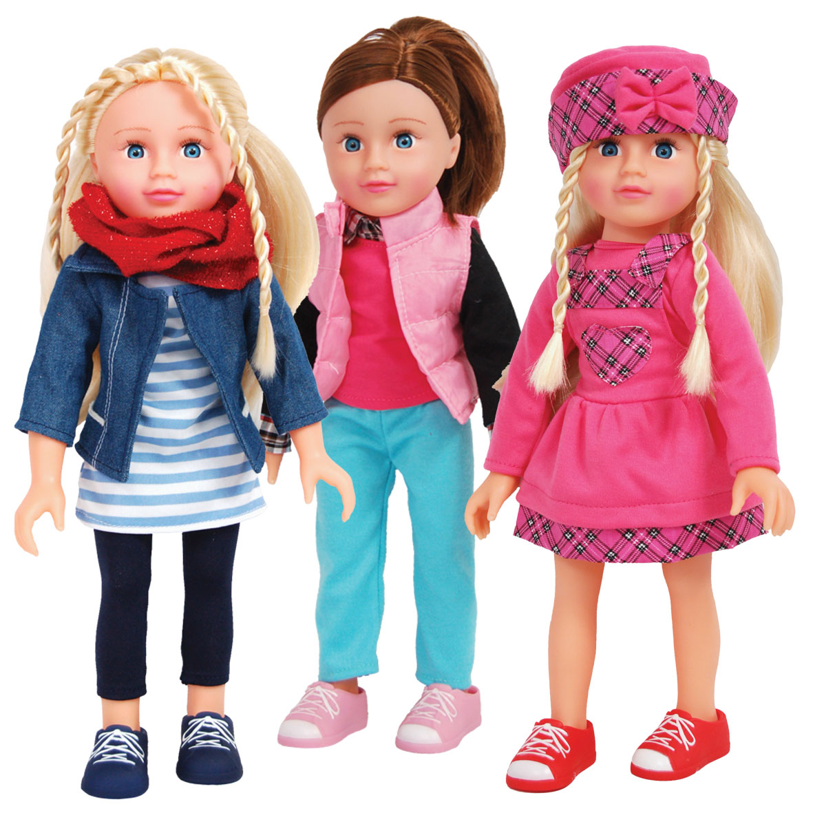 Girl Friend's Fashion Doll	40cm (16inch) Hard Body Fashion Doll each in a Classic Outfit. 6 Assorted.