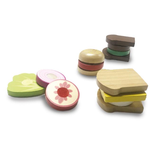 Wooden Sandwich Set